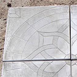 Тротуарная плитка 30x30 ОРЕОЛ.серая