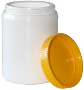 пластиковая банка из полиэтилена