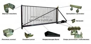 Комплектующие для откатных ворот infrus.ru