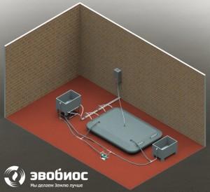 ФЕРМЕР-5 - биоустановка по переработке органических отходов с рабочим объемом реактора 5 куб. м