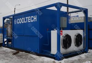 Холодильная установка контейнерного типа для заморозки грунта