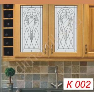 Кухонные фасады с витражными вставками infrus.ru